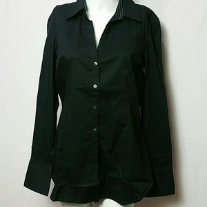 Express NEW Large Button down essential stretch